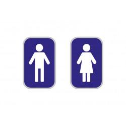 Autocollants WC Hommes/Femmes