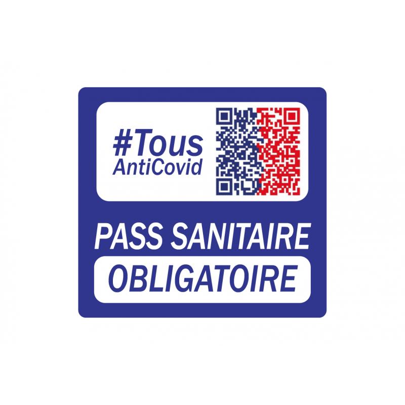 Autocollant Pass Sanitaire Obligatoire Carré