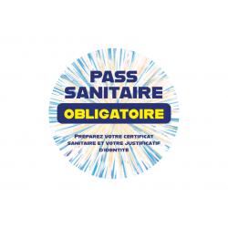 Pass Sanitaire Obligatoire Rond (14cm)