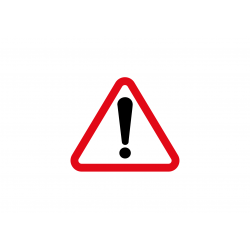 Pictogramme Attention Sticker Rouge