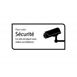 Lieu sous surveillance vidéo, caméra de sécurité, vidéosurveillance sticker autocollant