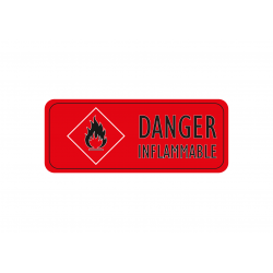 Autocollant Danger inflammable, Sticker attention inflammable