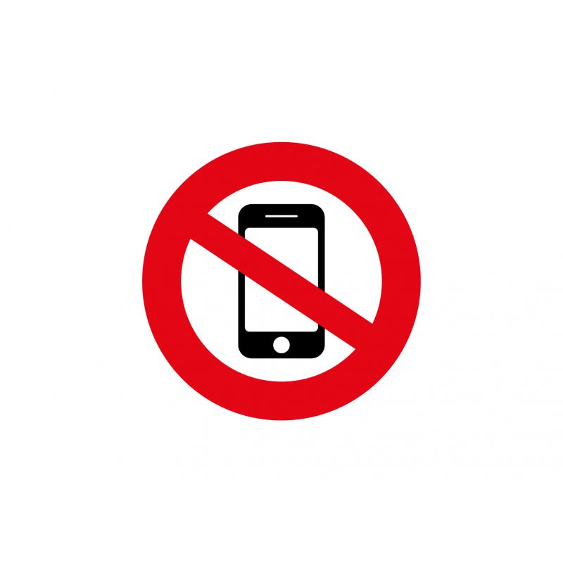 Téléphone portable interdit sticker autocollant