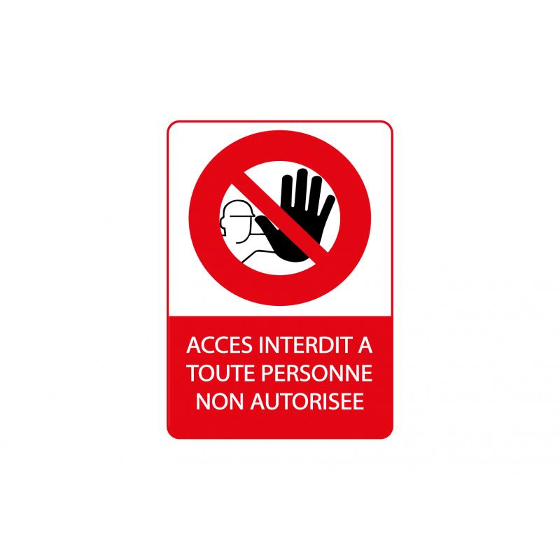 Accès interdit vertical sticker autocollant