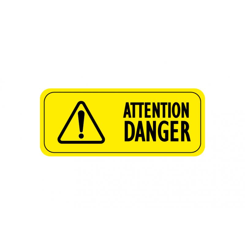 Attention danger pictogramme sticker autocollant