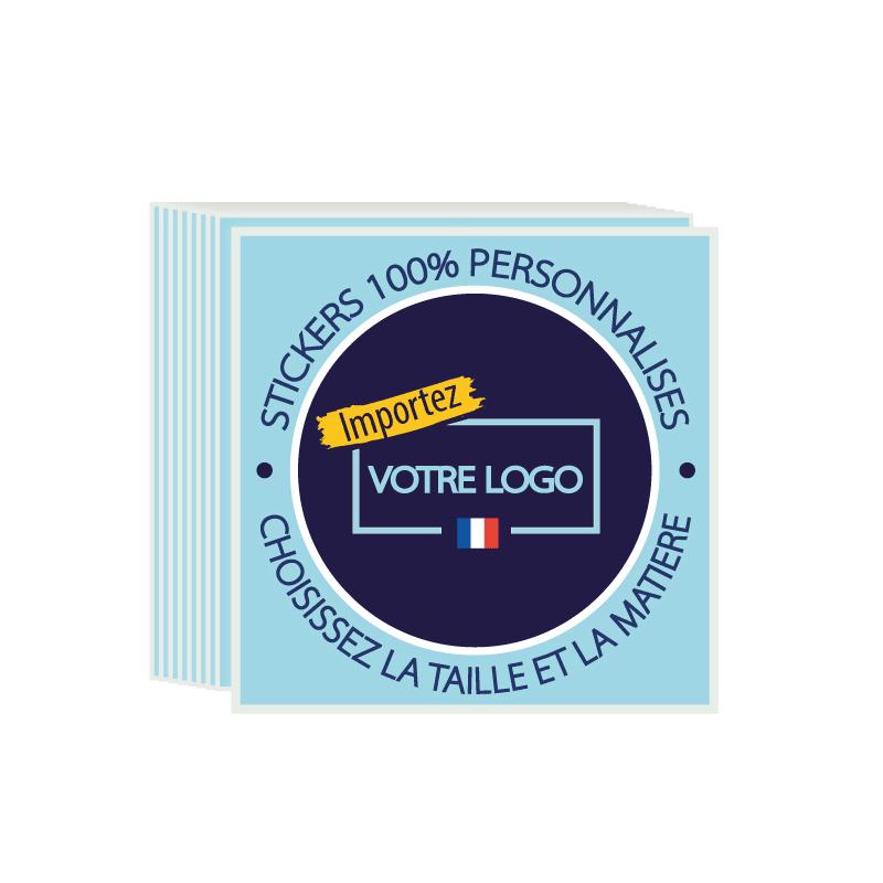 Stickers personnalisés avec logo